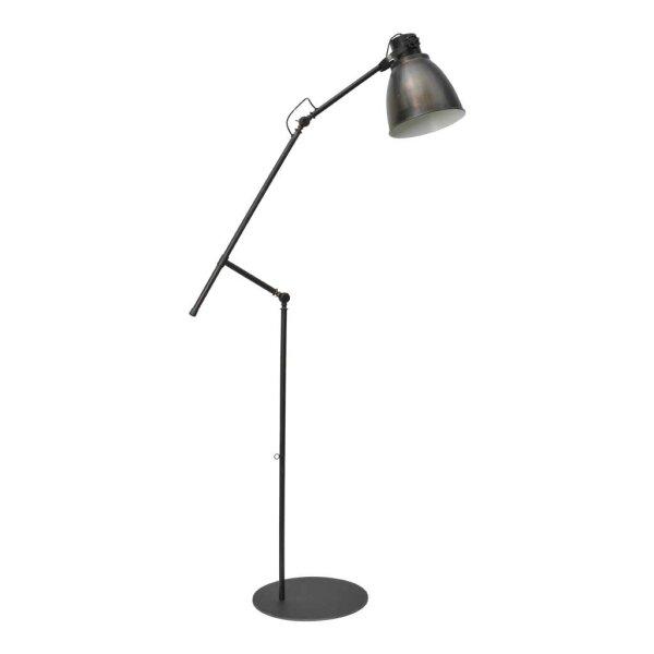 Stehlampe Beasly in Gunmetal, Höhe 194 cm