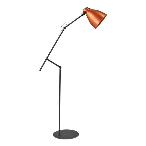 Stehlampe Beasly in Kupfer, Höhe 194 cm