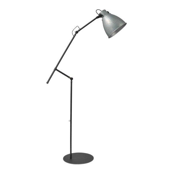 Stehlampe Beasly in Zink, Höhe 194 cm