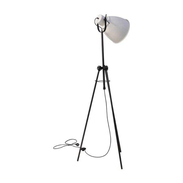 Stehlampe Beasly in weiss, Höhe 167 cm