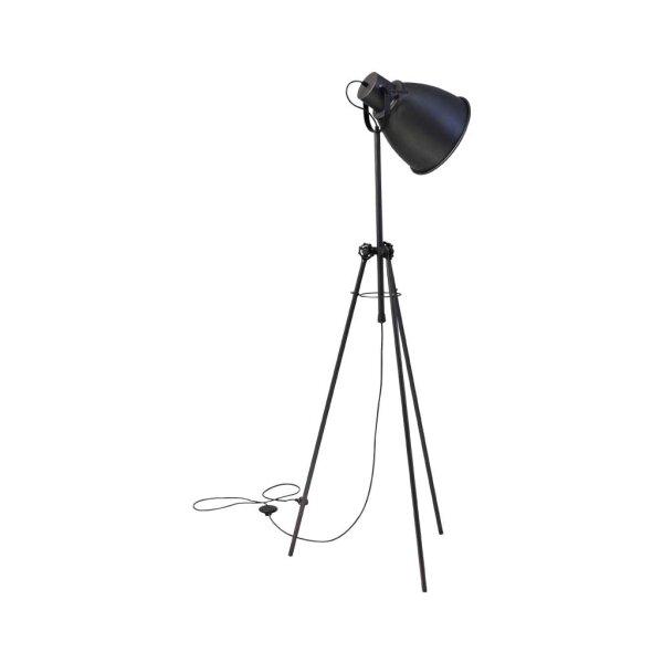 Stehlampe Beasly in Gunmetal, Höhe 167 cm