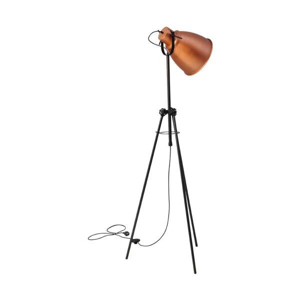 Stehlampe Beasly in Kupfer, Höhe 168 cm
