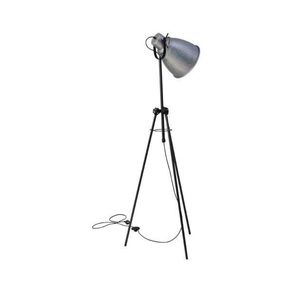 Stehlampe Beasly in Zink, Höhe 169 cm