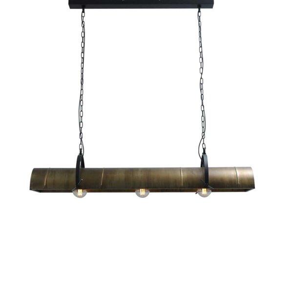 Petrol 3er Hängelampe in Antik Messing ca. 140 cm
