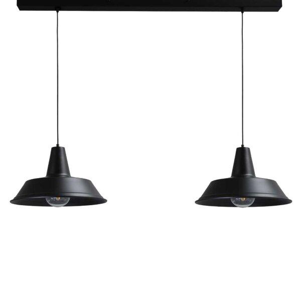 Derby  2-er Hängelampe in schwarz, 45 cm