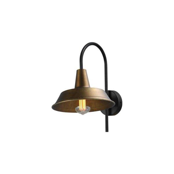 Derby Wandlampe in Antik Messing