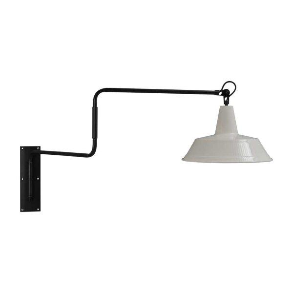 Derby Wandlampe in weiss, ausziehbar
