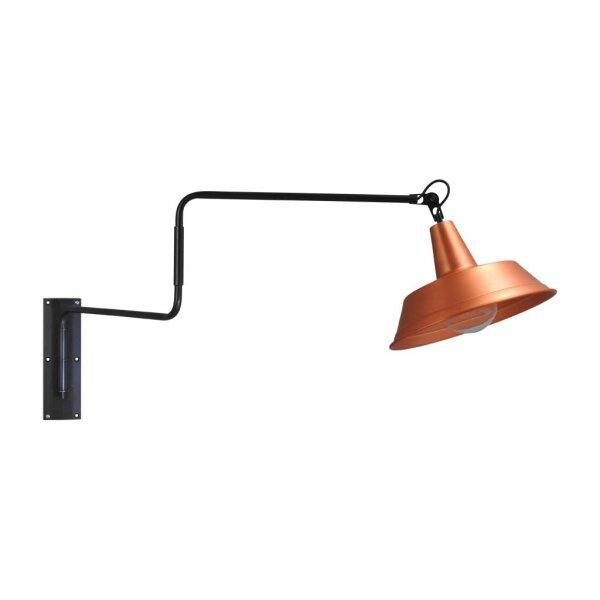 Derby Wandlampe in Kupfer, ausziehbar