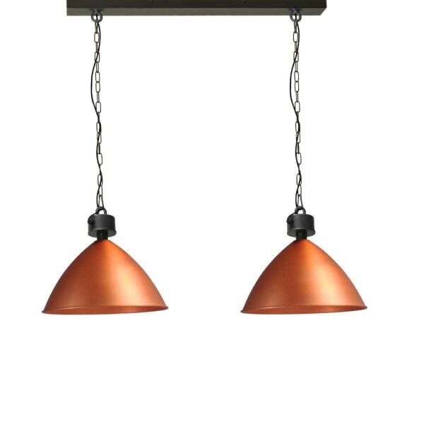 Leeds 2erHängelampe, Kupfer, Schirmhöhe ca. 42 cm