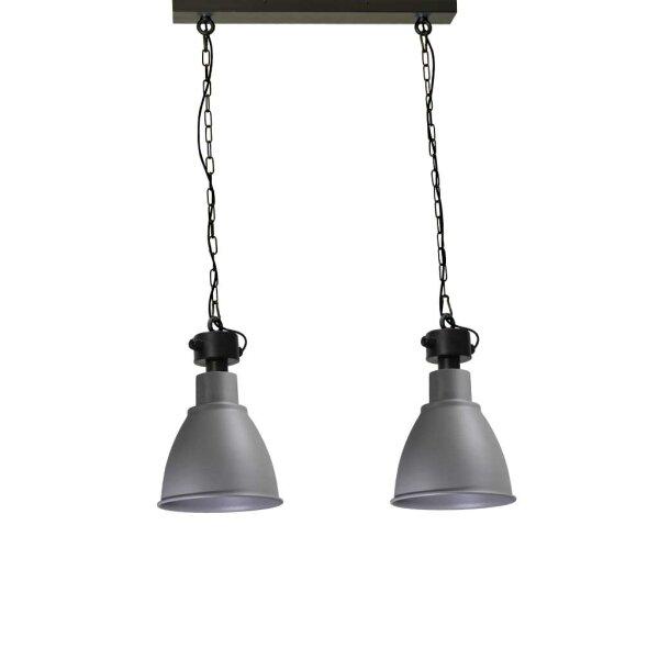 Bristol 2er Hängelampe, Betonlook, Schirmhöhe ca. 41 cm