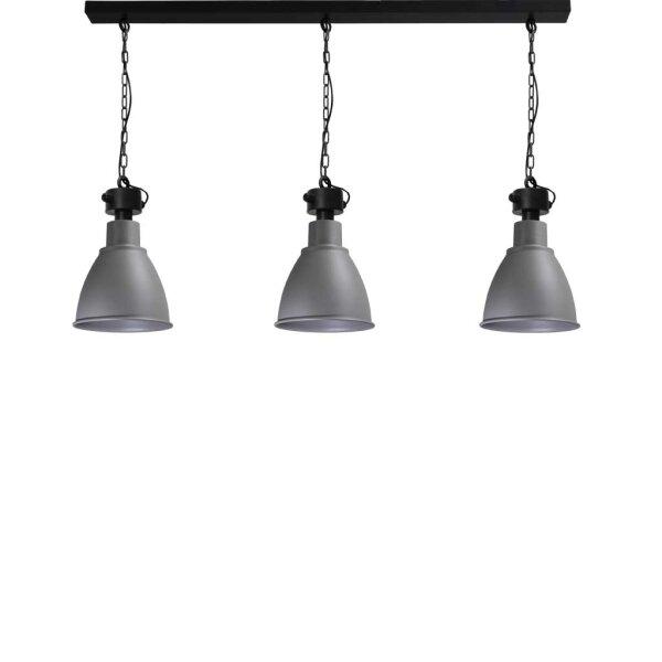 Bristol 3er Hängelampe, Betonlook, Schirmhöhe ca. 41 cm