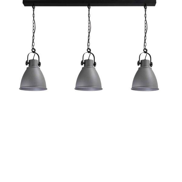 Bristol 3er Hängelampe, Betonlook, Schirmhöhe ca. 43 cm
