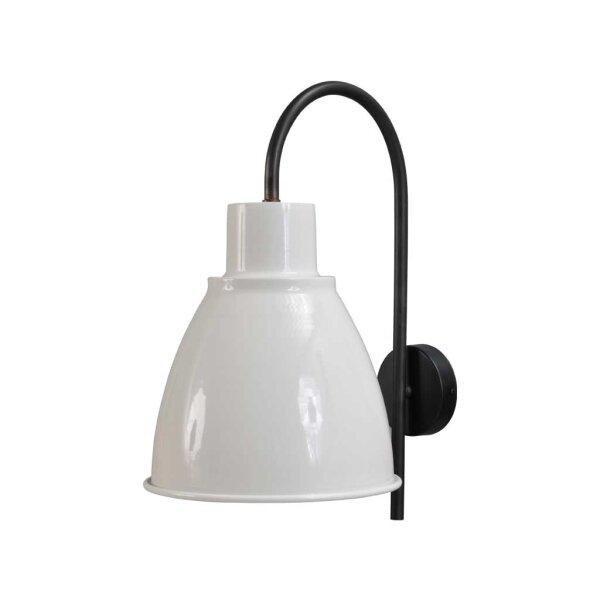 Poole Wandlampe in Weiss