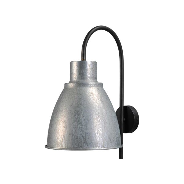 Poole Wandlampe in Zink