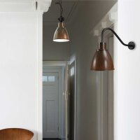 Corby Wandlampe in Rost