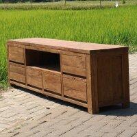 Teak TV-Möbel Lowboard Inoso in vier Größen