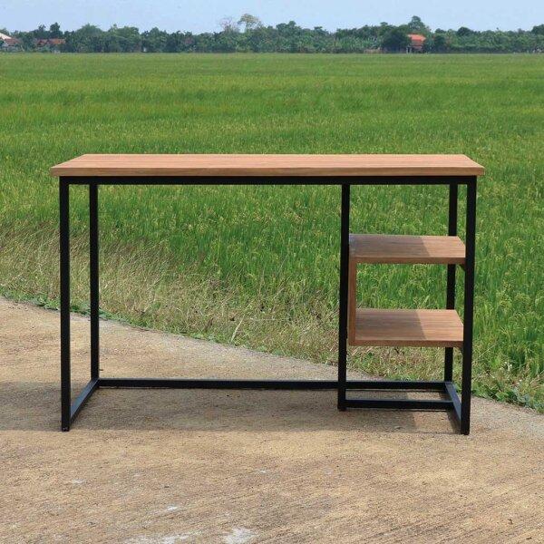 Schreibtisch Hamburg Teak und Metall