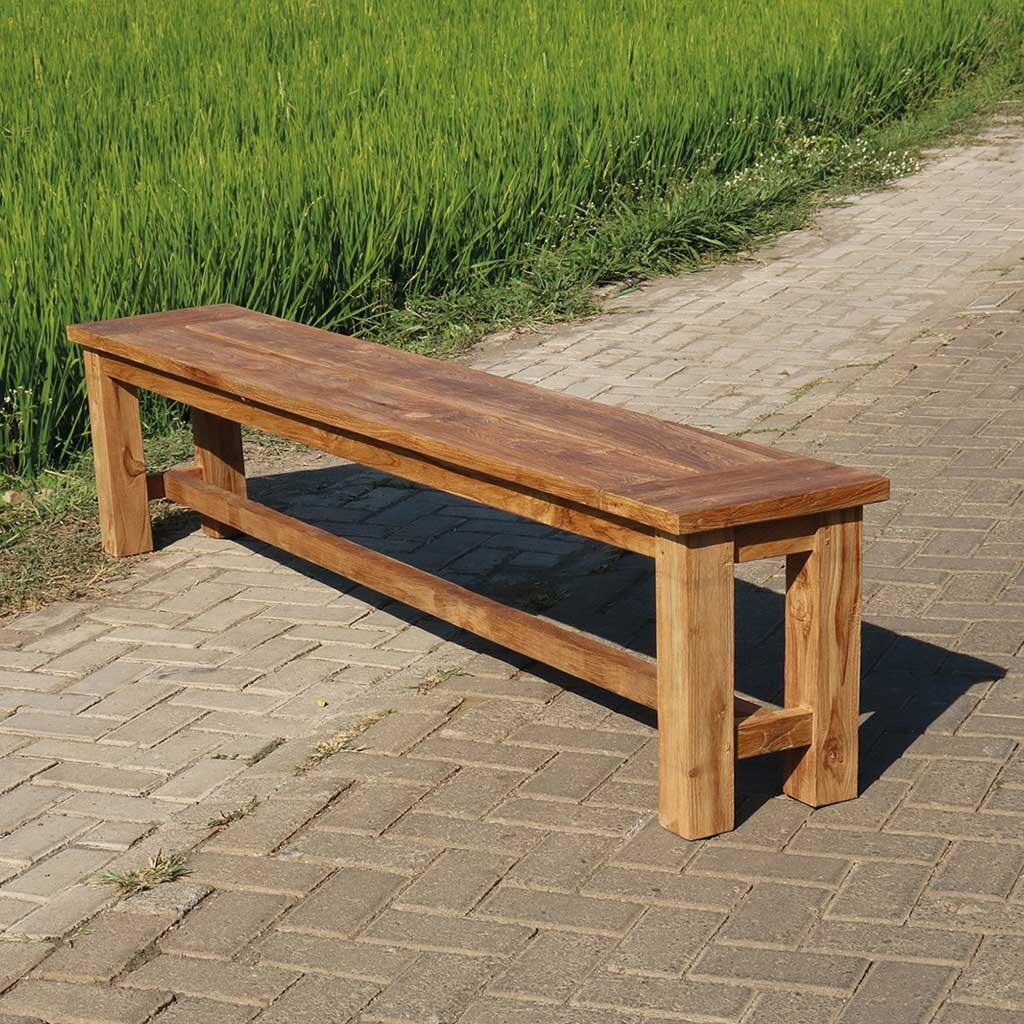Teak Sitzbank Garten 140 cm