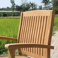 Garten Teak Stuhl stapelbar