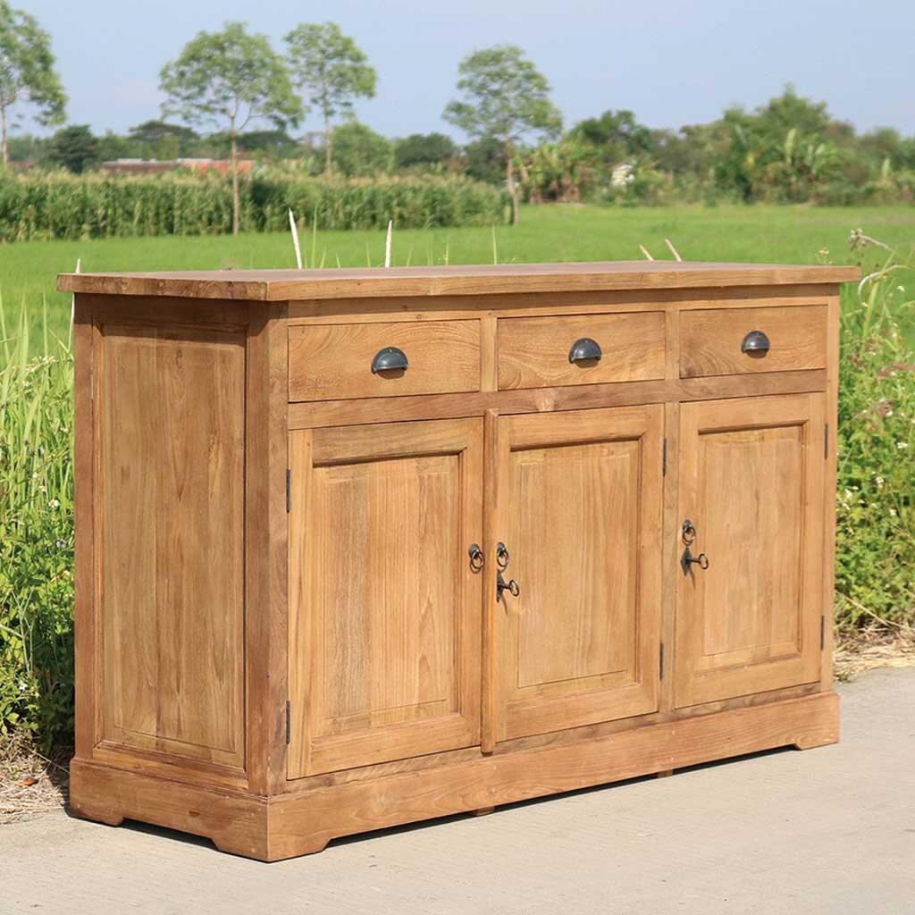 teak sideboard sodary 160 cm. Black Bedroom Furniture Sets. Home Design Ideas