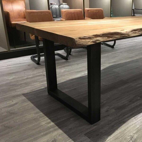 Baumstamm Esstisch Yukon 4 Cm Tischplatte U Beine