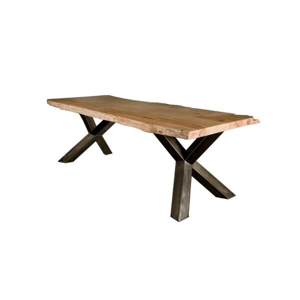 Baumstamm Esstisch Yukon Akazie Top 4 cm Y-Beine
