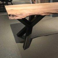 Baumstamm Esstisch Yukon Akazie Top 6 cm Y-Beine