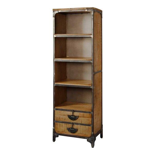 Bücherregal Basto 2 Schubladen braun