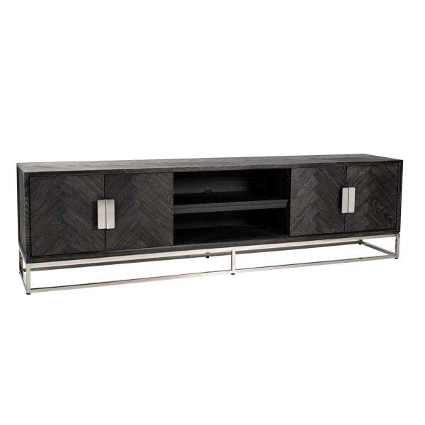 TV Lowboard 220 cm Blackbone silver