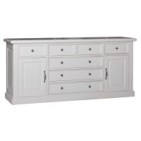 Sideboard White Wiskonsin 2 Türen 7 Schubladen
