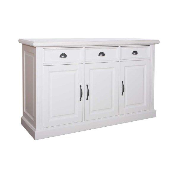 Sideboard White Wiskonsin 3 Türen 3 Schubladen