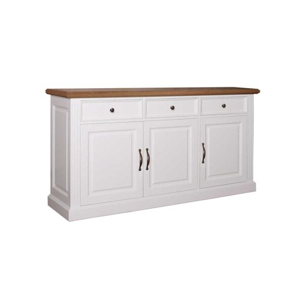 Sideboard White & Oak 174 cm