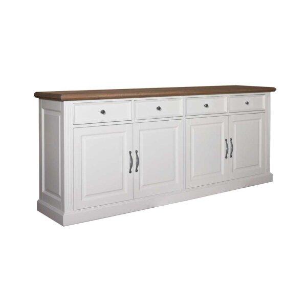 Sideboard White & Oak 224 cm
