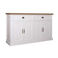 Sideboard White & Oak 185 cm