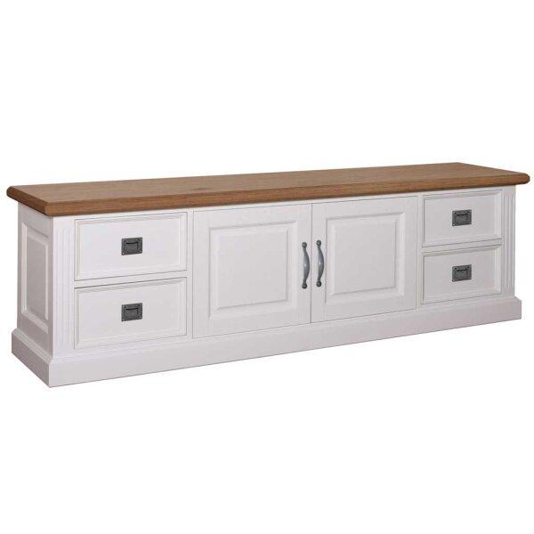 Lowboard White & Oak 250 cm TV-Board