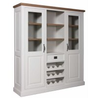 Buffetschrank White & Oak mit Weinregal