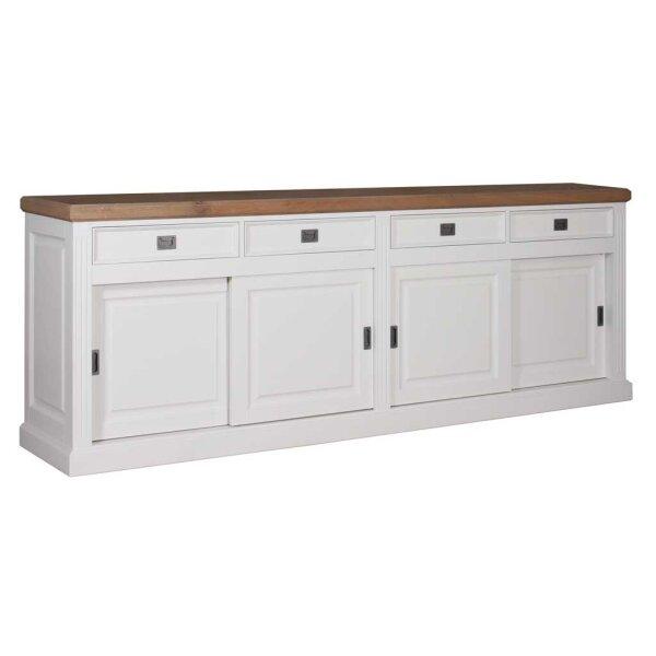 Sideboard White & Oak 258 cm