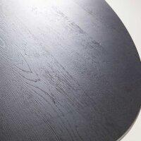 Esstisch oval Eiche schwarz 240 x 110 cm