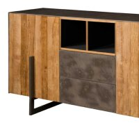 Sideboard Ora Teakholz Kupferlook & Metall 167 cm