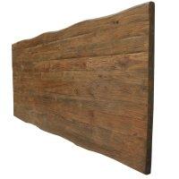 Tischplatte 5cm Baumkante Teak Dingklik dunkel 2 Größen