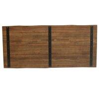 Tischplatte 6cm Baumkante Teak Dingklik dunkel 240 cm