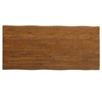 Tischplatte 5cm Baumkante Teak Kasar hell in 2...