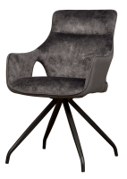 Armlehnen Stuhl Nola Samt drehbar 180 Grad 3 Farben