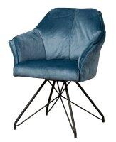 Armlehnen Stuhl Fano Samt drehbar 180 Grad 3 Farben