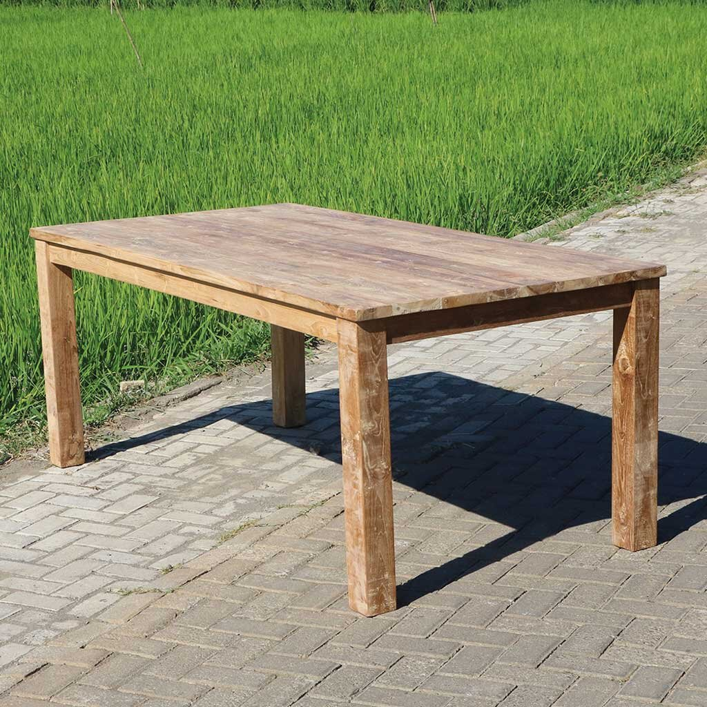 Teak tisch oslo 140 x 80 x 78 cm restyle24 for Wohnzimmertisch 140 x 80