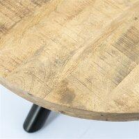 Couchtisch Mango Holz Otto rund 70x70 cm