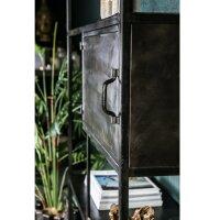 Regalschrank Duana Metall schwarz 100 cm