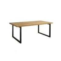 Teak Esstisch mit Metallbeinen 220 cm