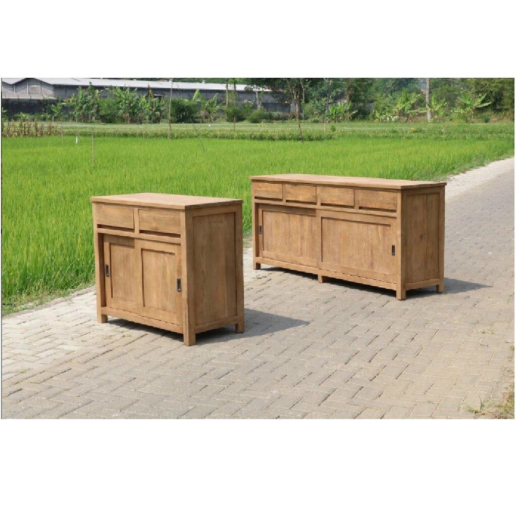 teak sideboard recarda 160 cm restyle24. Black Bedroom Furniture Sets. Home Design Ideas