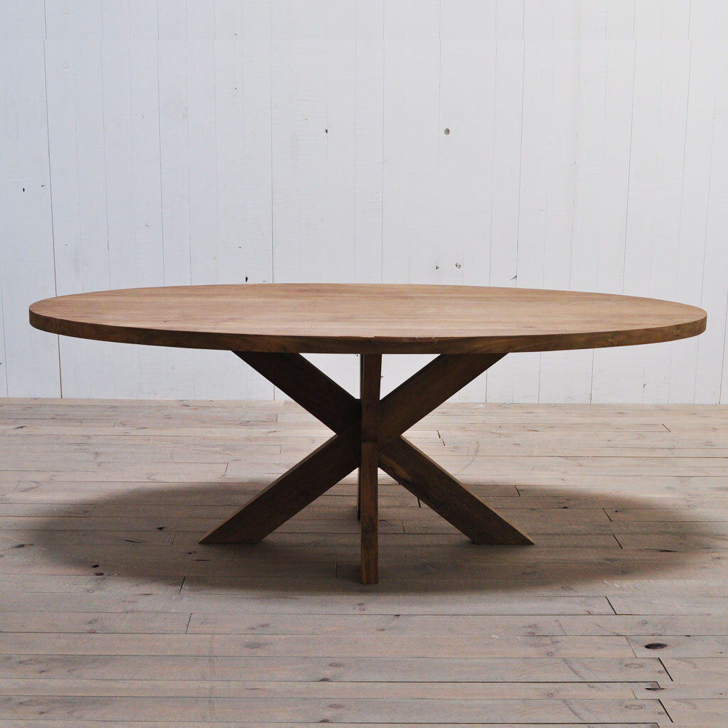Teak tisch oval restyle24 for Tisch design oval
